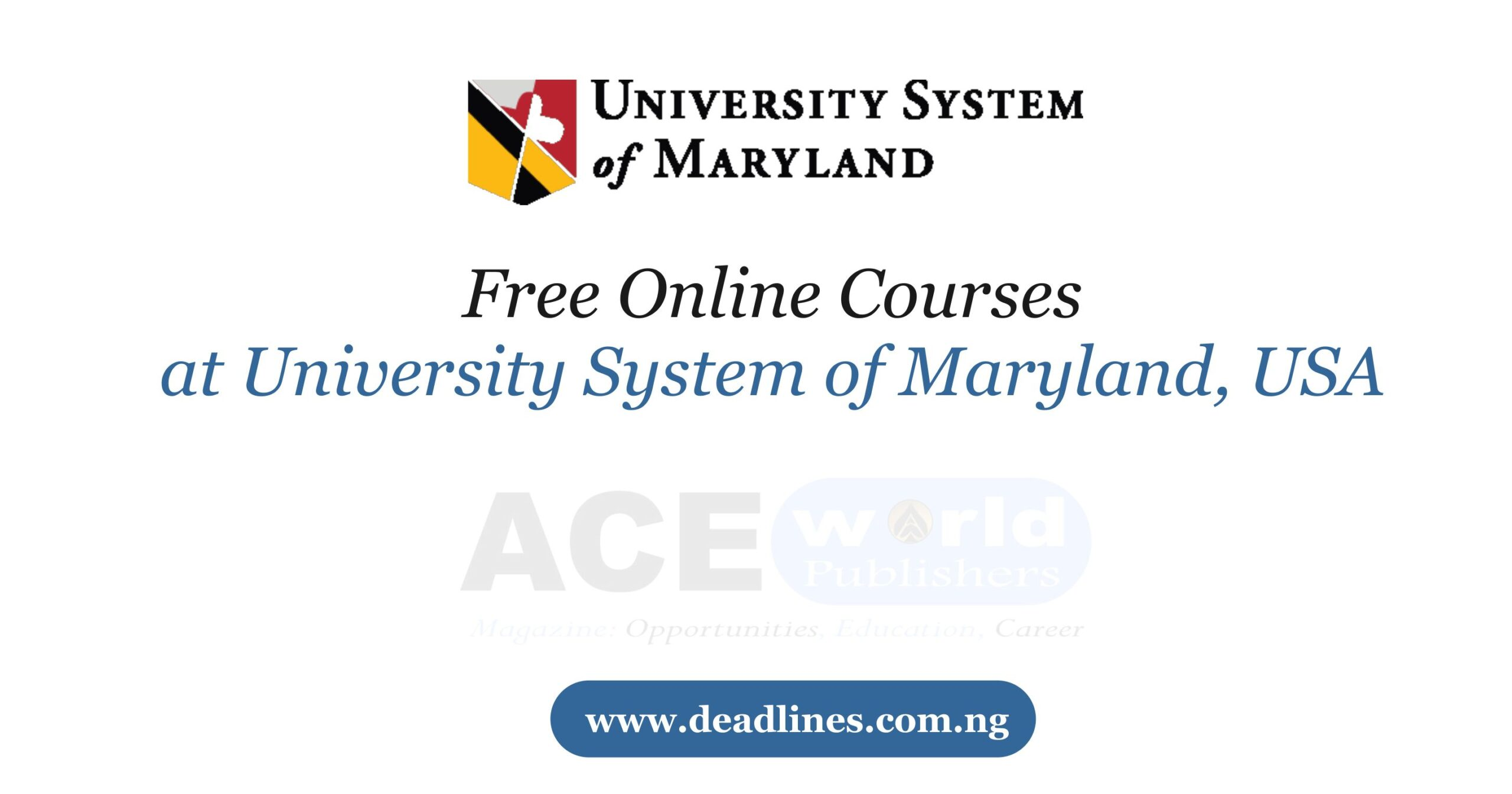 Free Online Courses at University System of Maryland, USA